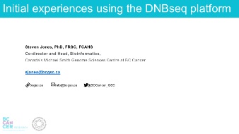 Webinar | Initial Experiences Using the DNBSEQ Platform